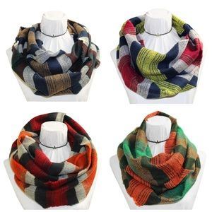 Accessories - 🆕Plaid Infinity Scarf
