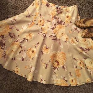 Banana Republic Floral Flair Skirt
