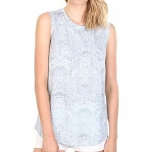 NEW Cotton On Paisley Muscle Tee Tank Top Shirt S