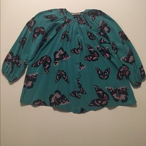 "Tucker ""The Classic Blouse"" Butterfly print"