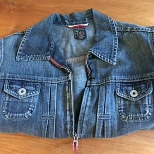 Lucky Brand denim jacket, size Large.