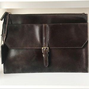 Genuine Leather oversized clutch