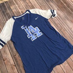 Los Angeles LA Dodgers jersey tshirt- NIKE for sale