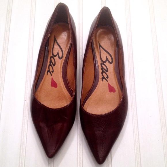 0901f8dfbc8 Baci Shoes - Baci Italian leather mahogany pointed toe flats