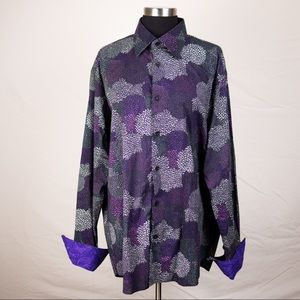 Other - Black and purple button down