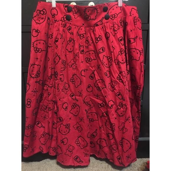 d3ae1c19a torrid Skirts | Hello Kitty Plus Size Midi Skirt | Poshmark