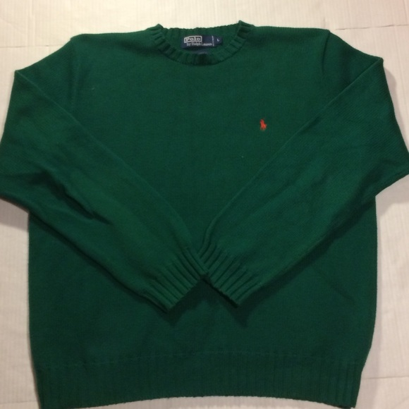 2f8e7556 90s polo Ralph Lauren green orange polo 100%cotton