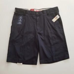 NWT Izod Men's Dark Blue Flat front Short Size 33
