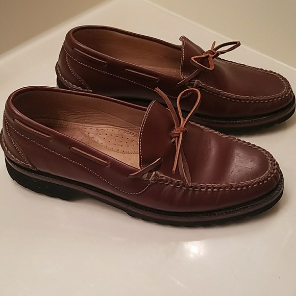 Orvis Vibram Sole Leather Loafers