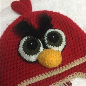 Other - Used Kids hat, red Hat handmade crochet