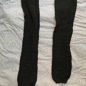 Accessories - DISTRESSED BLACK LEG WARMERS
