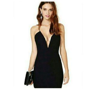 The Stella Deep V Bodycon Dress
