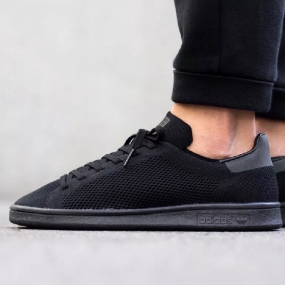 quality design 624ce a2b49 Adidas Stan Smith Primeknit Triple Black