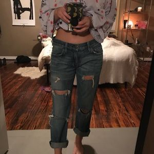 current elliott distressed boyfriend jeans