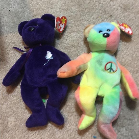 2de35548c3f Princess Diana   peace bear beanie baby collector