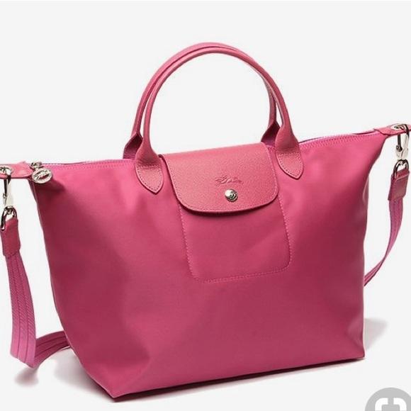 09a627cdb91 Longchamp Handbags - Authentic Longchamp Pink Le Pliage Duffle Bag!