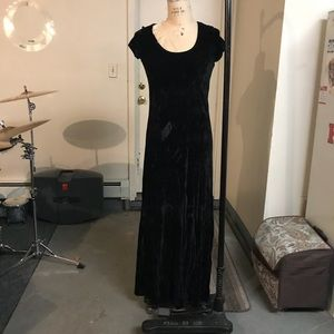 Kenzie full length crushed  velvet dress.