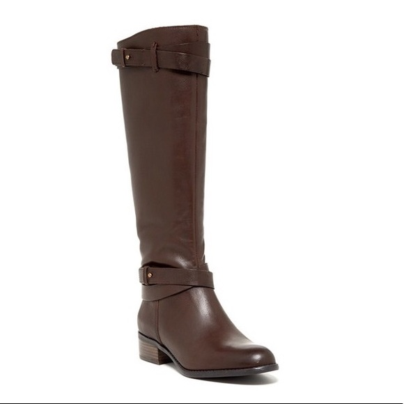 3946532d558 Franco Sarto 'Canary' Brown Leather Riding Boots