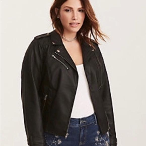 0f1a78653194a NWT Torrid Faux Black Leather Moto Jacket