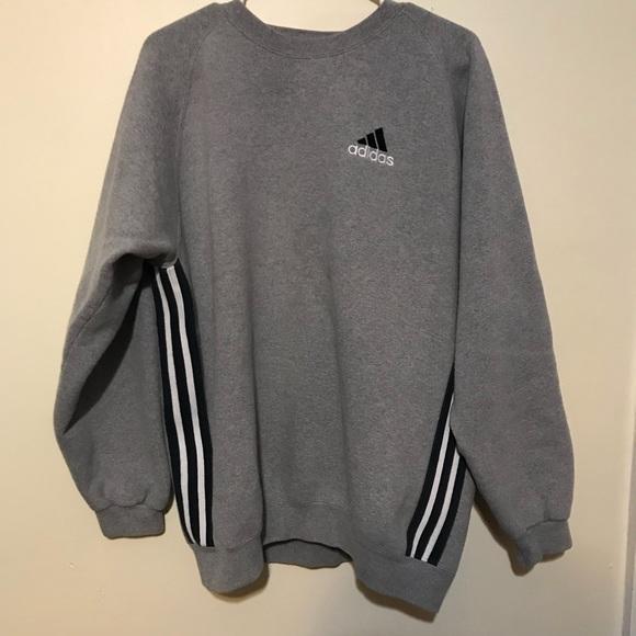 dd696a33ec5ad Vintage Adidas Crewneck Stripe Sweatshirt 90s Tag