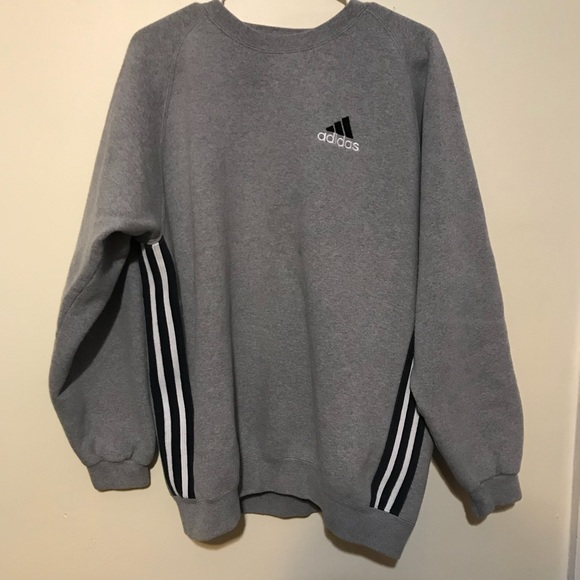 11b4038e adidas Sweaters | Vintage Crewneck Stripe Sweatshirt 90s Tag | Poshmark