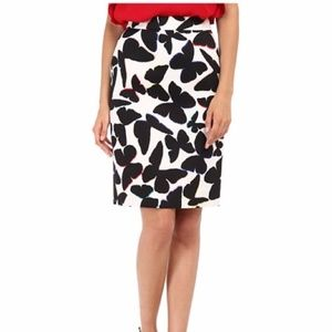 Kate Spade Butterfly Pencil Skirt Size 8