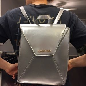 Bebe silver backpack 90's style
