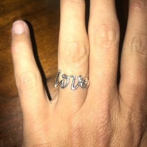 Tiffany & Co. Jewelry - Tiffany Love Ring - Graffiti - Sterling Silver - 7