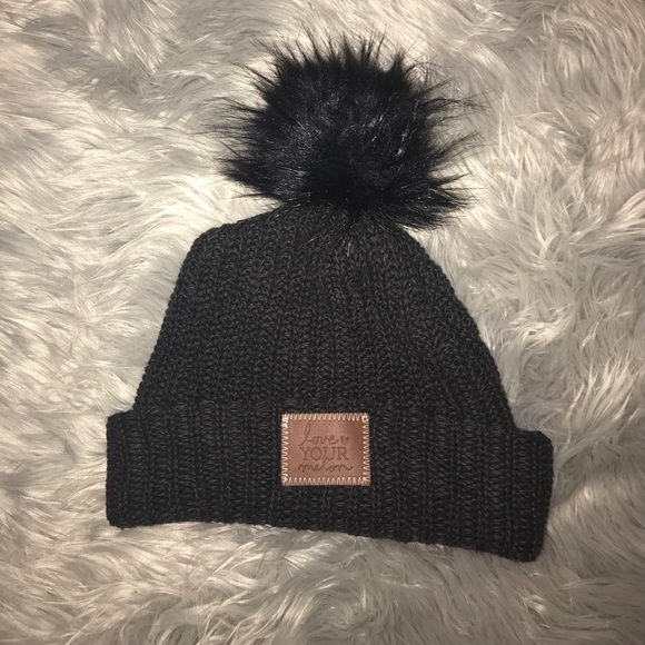 e7433610f28 Love Your Melon Accessories - Love Your Melon Black Pom Beanie