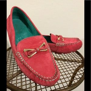 Coral Suede Loafers. 8m