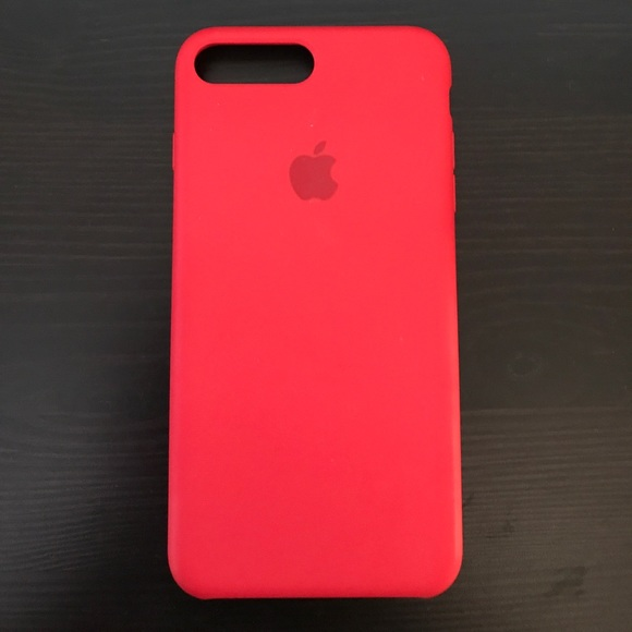 brand new 68819 4aff5 iPhone 7 Plus Apple Silicone Case - Red