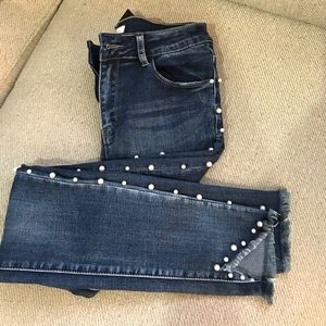 Pearls skinny jeans size large