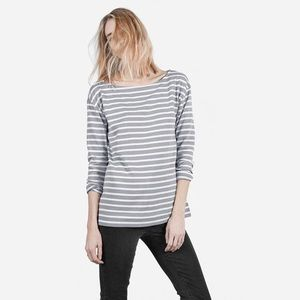 Everlane grey & cream striped long sleeve