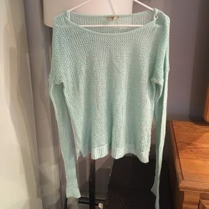 See through knit sweater