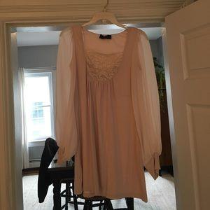 AX Paris Blush Dress with Sleeves