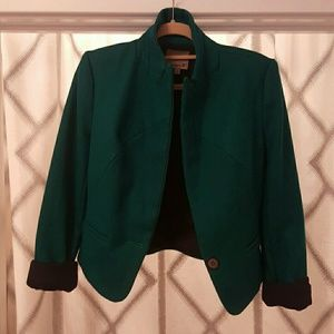 Emerald Green Wool Blazer