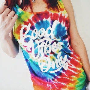 Good Vibes Only Tie Dye Tank Top