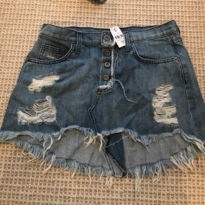 LF CARMAR Denim Skirt Size 27 (new with tags!)
