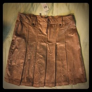 BCBGirls Pleated Corduroy Skirt