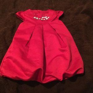Gymboree 12-18 Christmas red jewel bubble dress