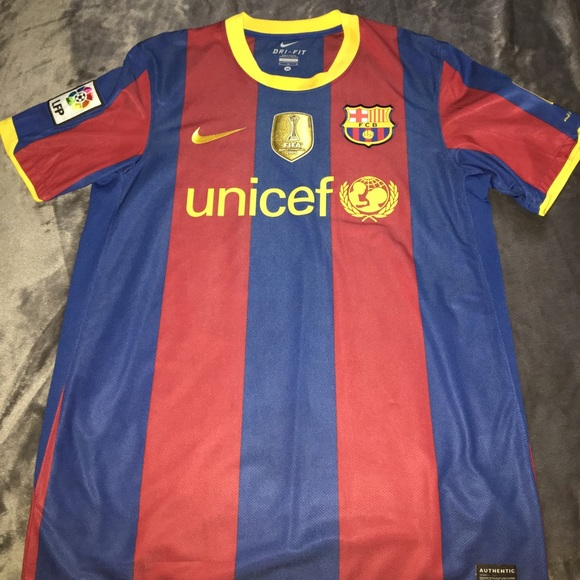 online store f64be 6bf53 FC Barcelona 2010-2011 Authentic Messi Jersey
