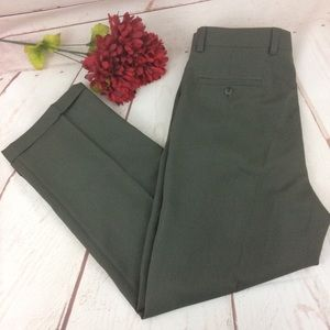 Pronto Uomo Olive Green Dress Pants