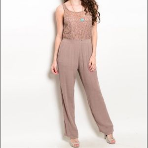 Women's Mocha Jumpsuit