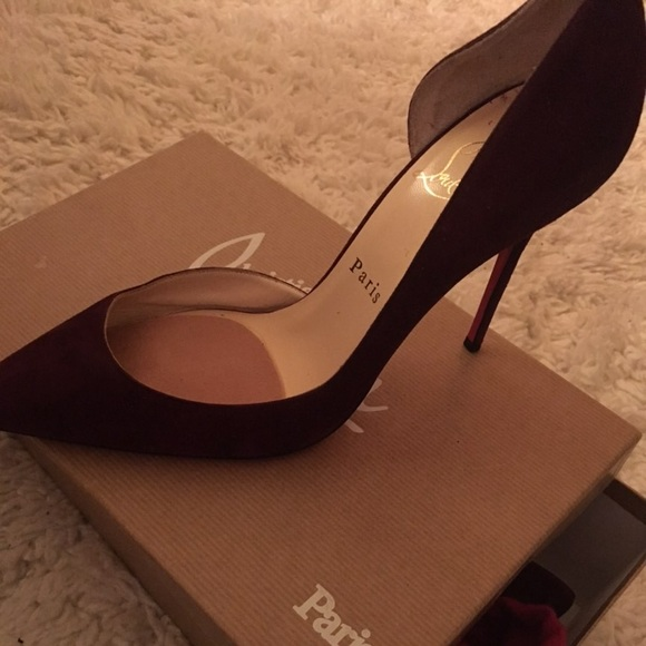 huge discount 21dc2 a3968 Christian louboutin Iriza plum suede 100 mm