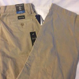 Nautica Clipper flat front men's pants 30x30 new