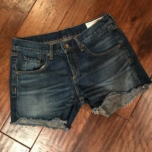 Rag & Bone Denim Cut Off Shorts Size 24