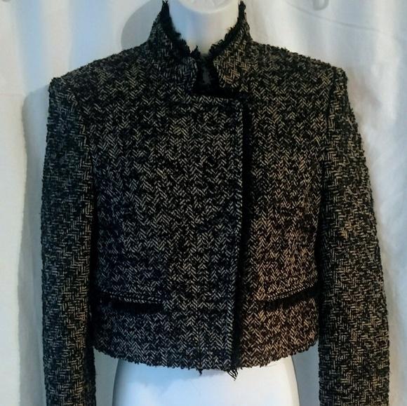 4ad8f5c9e5 Theory Tweed Cropped Wool Blend Jacket. Size 8. M_5a007fe4c6c7957b55124cc2