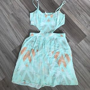 Kirra dress with cutout sides