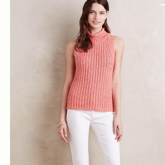048b8e3eb8 Anthropologie Sweaters - Anthropologie Roll Neck Knit Tank