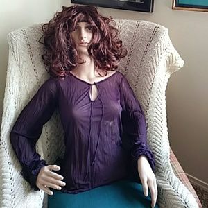 Deep Purple dressy blouse